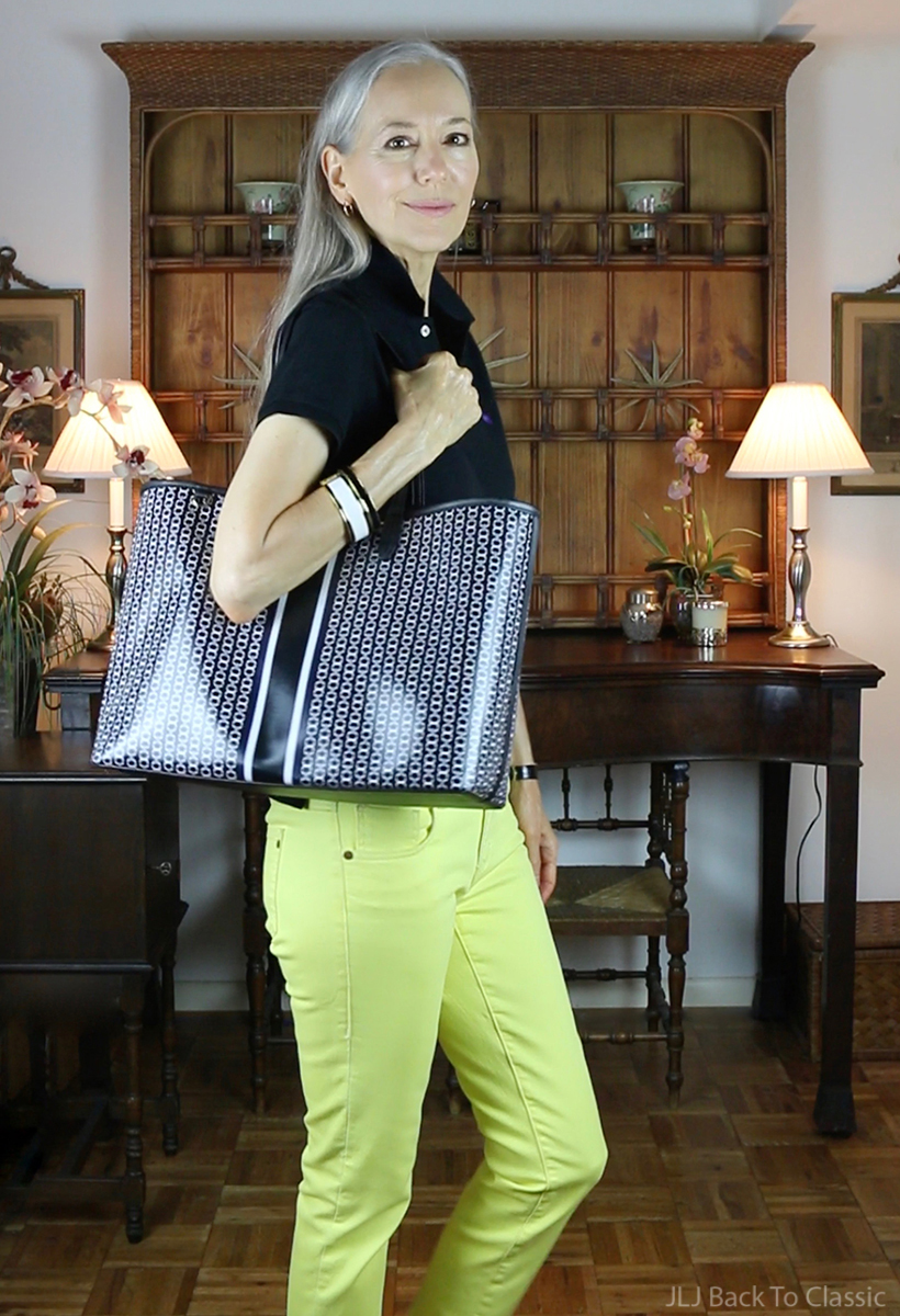 ralph-lauren-black-polo-shirt-yellow-jeans-tory-burch-gemini-link-tote