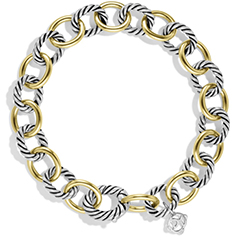 david-urman-oval-link-bracelet-with-gold