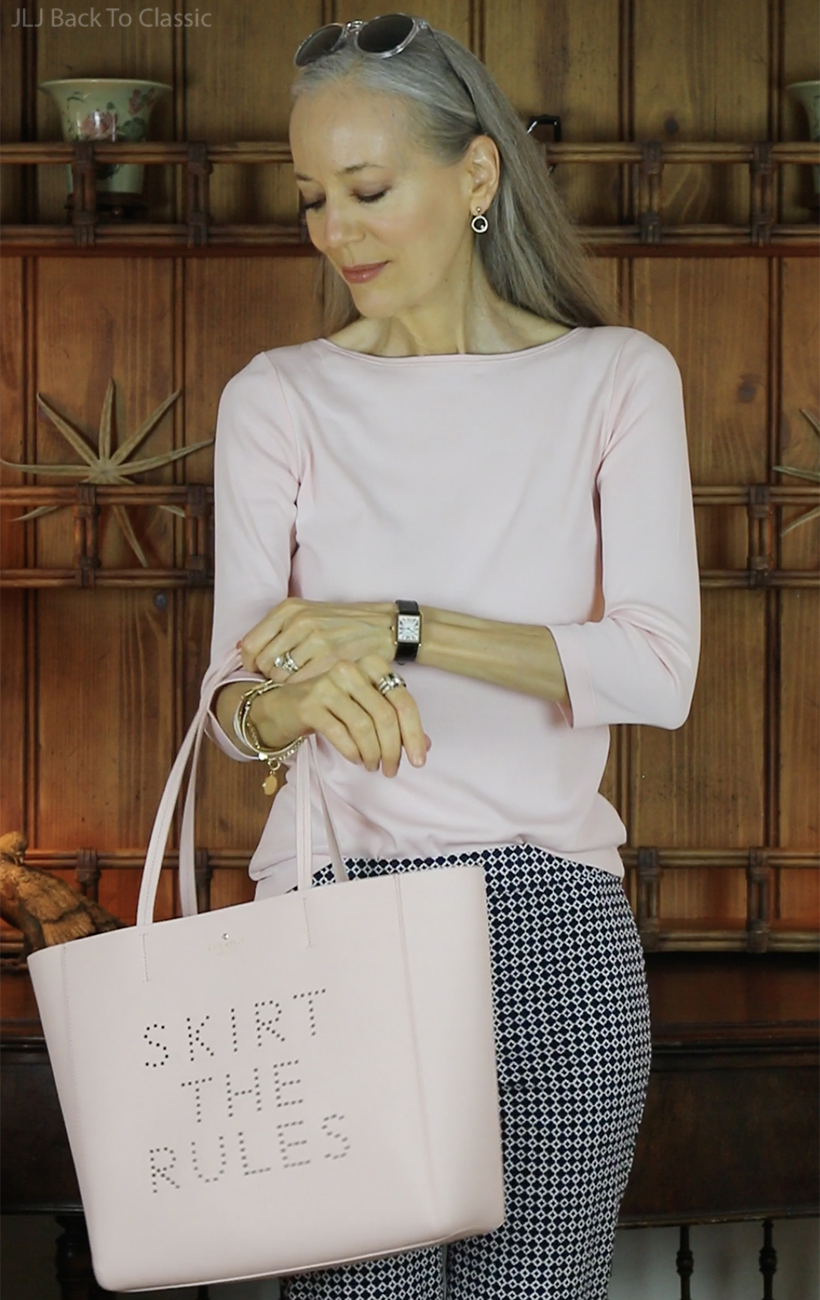 classic-style-talbots-blush-tee-and-kate-spade-blush-saffiano-leather-tote-