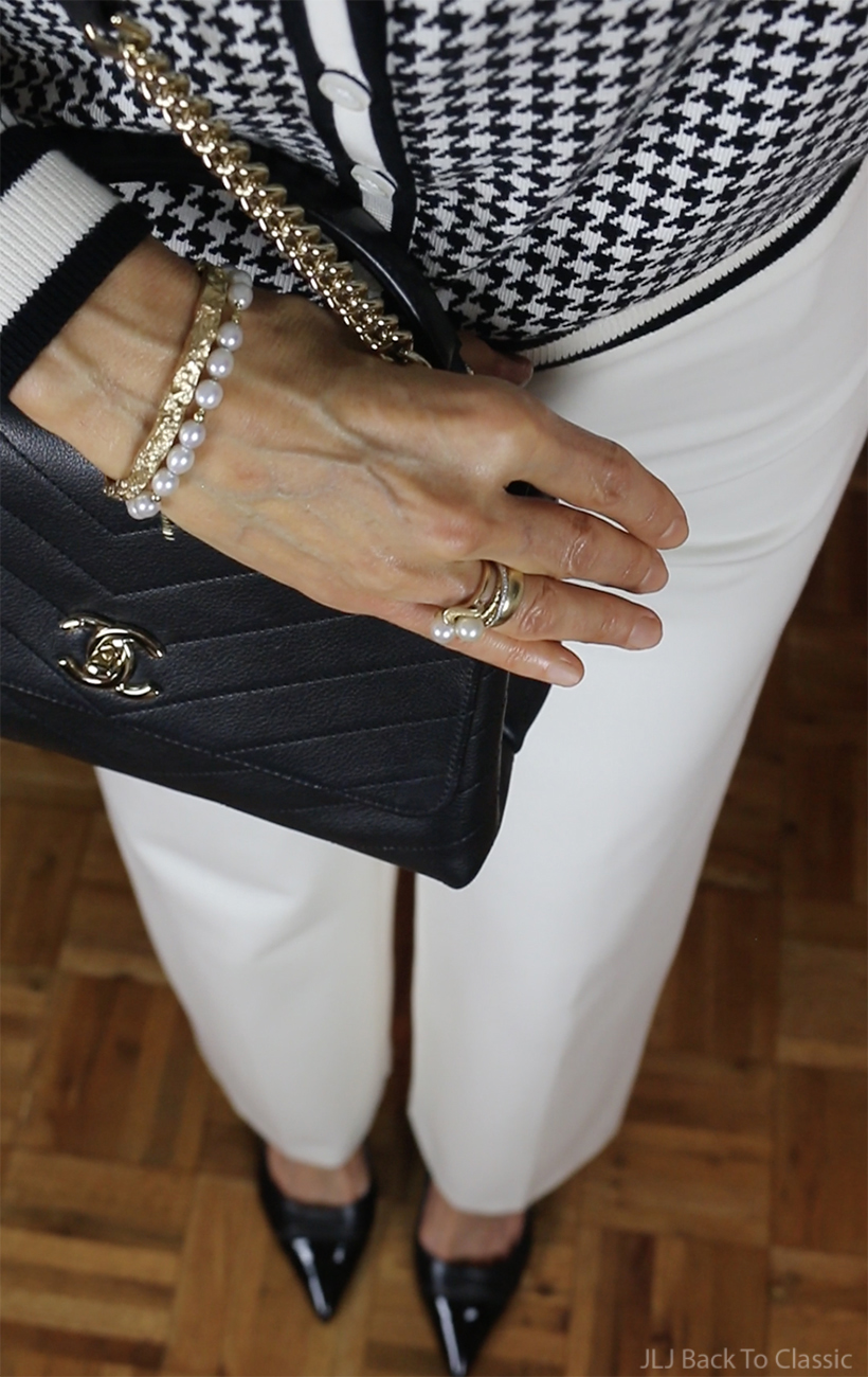 chanel-black-chevron-chic-top-handle-bag-david-yurman-spiritual-pearl-bracelet