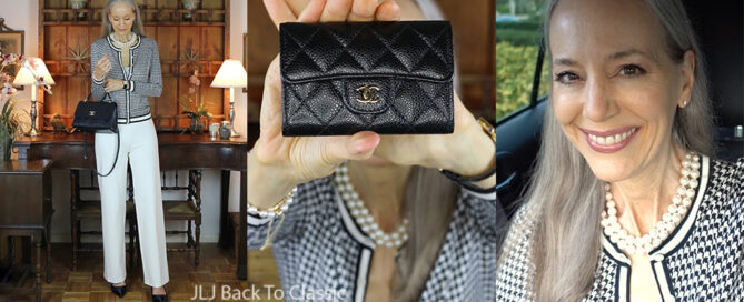 classic-style-houndstooth-cardigan-ivory-pants-chanel-chevron-chic-bag-caviar-wallet