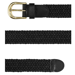 Woven Black Stretch Belt (More Colors Available)