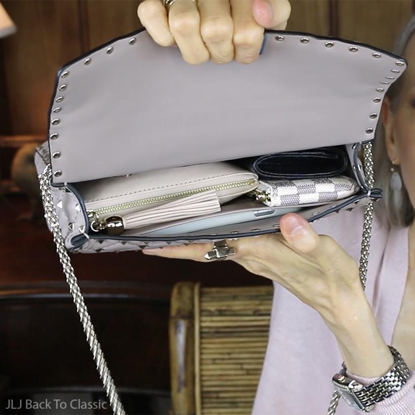 valentino-garavani-medium-rockstud-spike-shoulder-bag-poudre-what-fits-inside