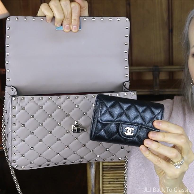 valentino-medium-rockstud-spike-shoulder-bag-poudre-chanel-classic-cardholder-black-caviar