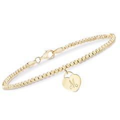 14K-yellow-gold-engravable-charm-bead-bracelet