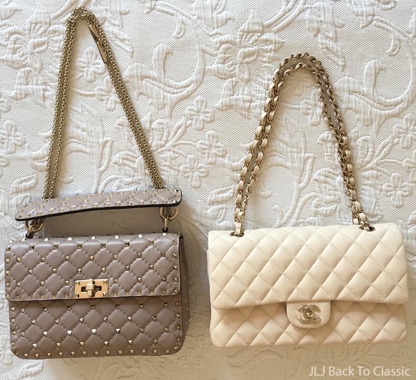 comparison-valentino-medium-rockstud-spike-bag-poudre-chanel-medium-classic-flap-light-beige