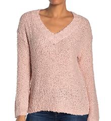 halogen-fluffy-v-neck-bouble-knit-sweater-pink-smoke