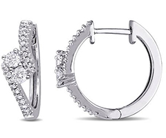 half-ctw-diamond-14k-white-gold-hoop-earrings