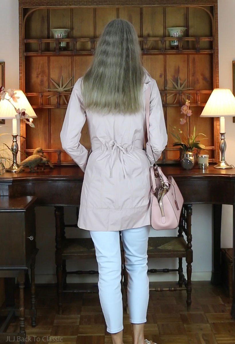 classic-style-over-50-louis-vuitton-montaigne-bb-Cole-Haan-Raincoat-Blush