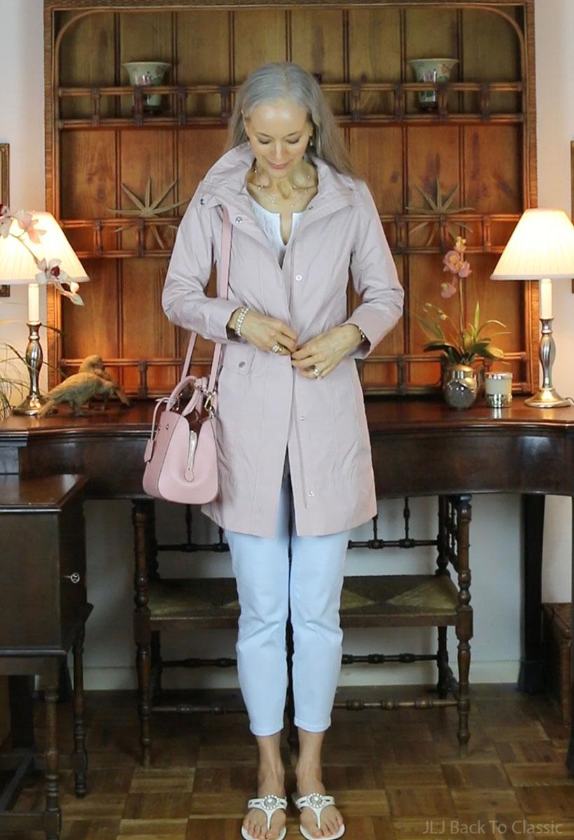 classic-style-over-50-louis-vuitton-montaigne-bb-Cole-Haan-Raincoat-Blush.