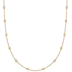 ross-simons-1ct-tw-14kt-yellow-gold-diamond-station-necklace