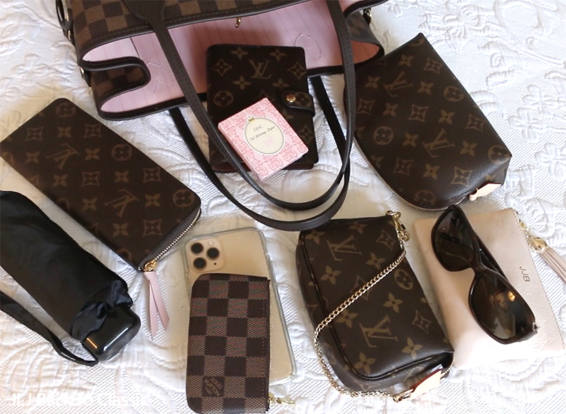 whats-inside-my-louis-vuitton-damier-ebene-neverfull-mm-clemence-wallet-mini-poshette