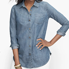 classic-fashion-over-50-talbots-denim-button-up-shirt